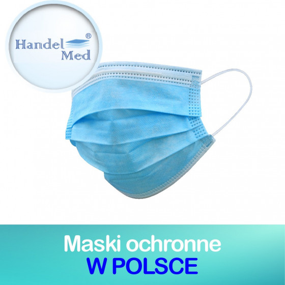 Handelmed / 1000 masek ochronnych, dostępne w Polsce i Europie, MASKA OCHRONNA NA TWARZ