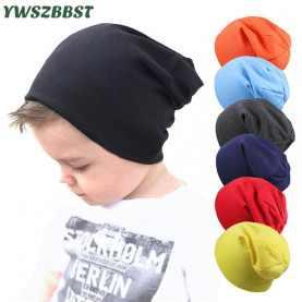 New Baby Street Dance Hip Hop Hat Spring Autumn Baby Hat Scarf for Boys Girls Knitted Cap Winter Warm Solid Color Children Hat