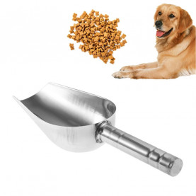 1PC High-Quality Stainless Steel Pet Feed Food Supplies Puppy Feeding Dog Food Scoop Shovel Pet Dog Feeding Acessorios