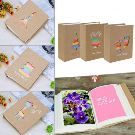6 inch 100 Pages Pocket Interleaf Type Picture Storage Frame for Kids Children Gifts DIY Scrapbooking Picture Case Photo Album