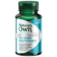 Nature's Own 50 + lat Multivitamin Mega potencja 60 Tabletki