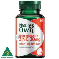 Nature's Own wysoka wytrzymałość Zinc 30mg 120 Tabletki