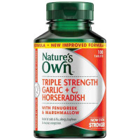 Nature's Own potrójna siła czosnek C Chrzan 100 tabletki