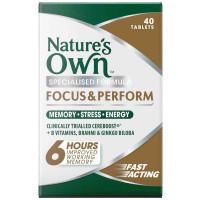 Natura własne Focus & wykonaj 40 Tabletki