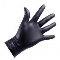 NITRYLEX Rękawice Nitrylowe NITRYLEX, 100szt (50 par), czarne, bezpudrowe