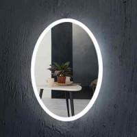 Owalny kształt Frameless łazienka lustro z lampami LED