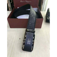 Man crocodile leather belt