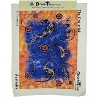 Aborygenów art Canvas-styl 3-Large