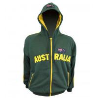 Australia Bluza z kapturem-zielony/złoty