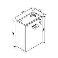 Szafka łazienkowe (HAV400-WH)